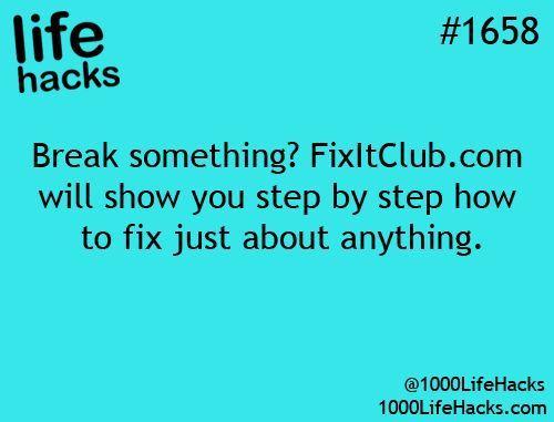 DIY Life Hacks & Crafts : fixitclub.com for maintenance and repair tips   1000 L...