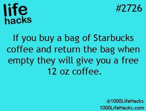 Starbucks hack !