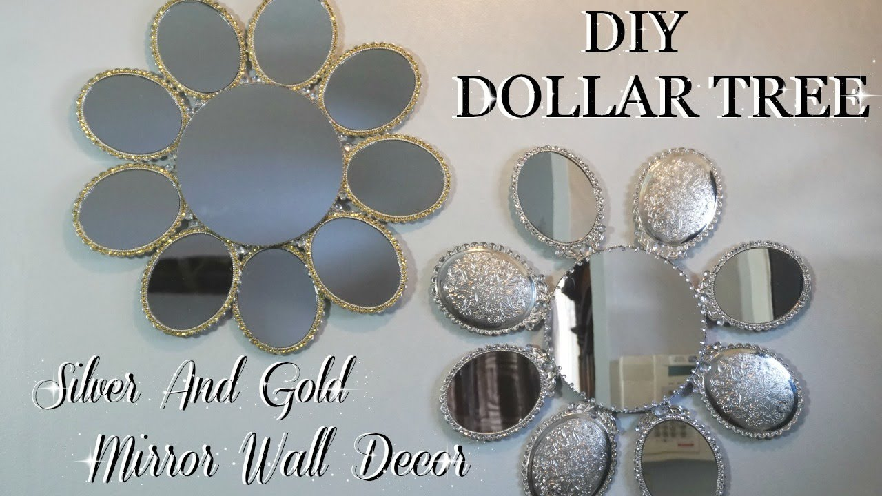 DIY Projects Video: DIY DOLLAR TREE | SILVER & GOLD MIRROR WALL ART DECOR | HOME DECOR DIY FT. TOTALLY DAZZLED - DIYall.net | Home of DIY & Craft ideas ...