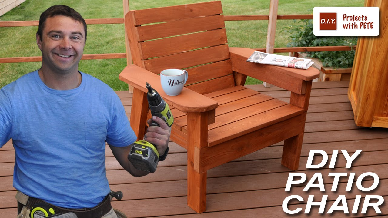 Cool Diy Projects Video How To Build A Patio Chair Diy Outdoor Machost Co Dining Chair Design Ideas Machostcouk