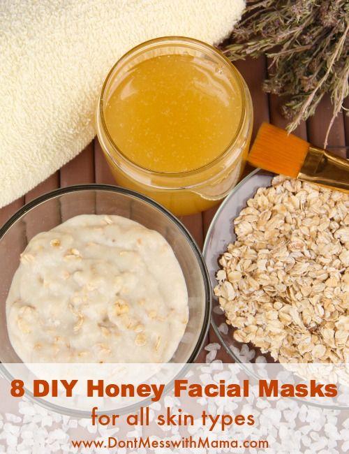 8 DIY Honey Facial Mask Recipes for All Skin Types - #DIY #Beauty #essentialoils...
