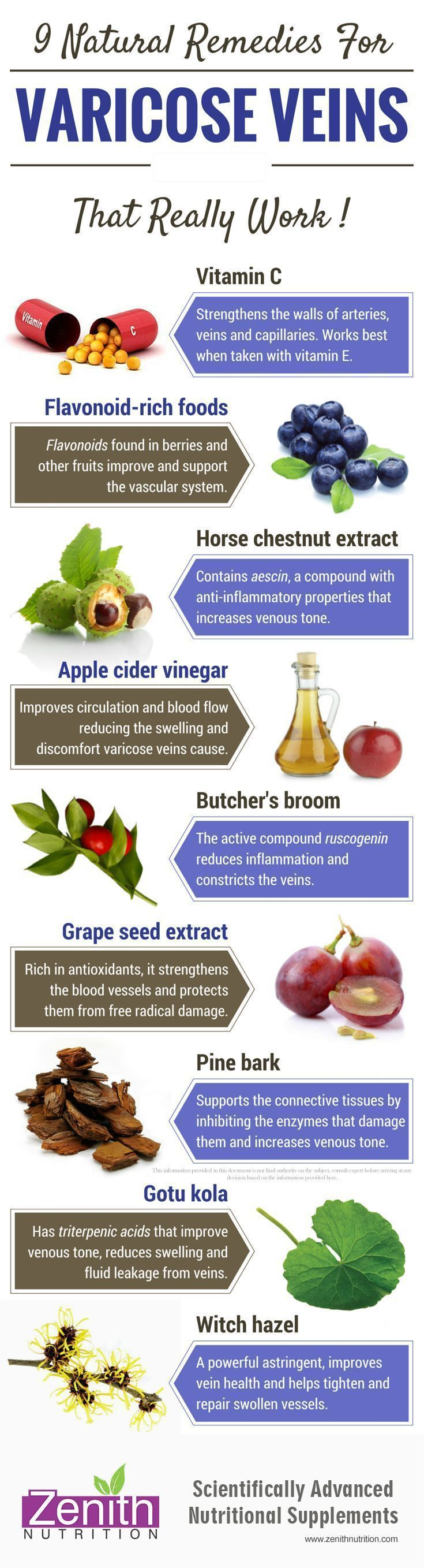 9 Natural Remedies for Varicose Veins. Vitamin C, Flavonoid-rich foods, Horse ch...
