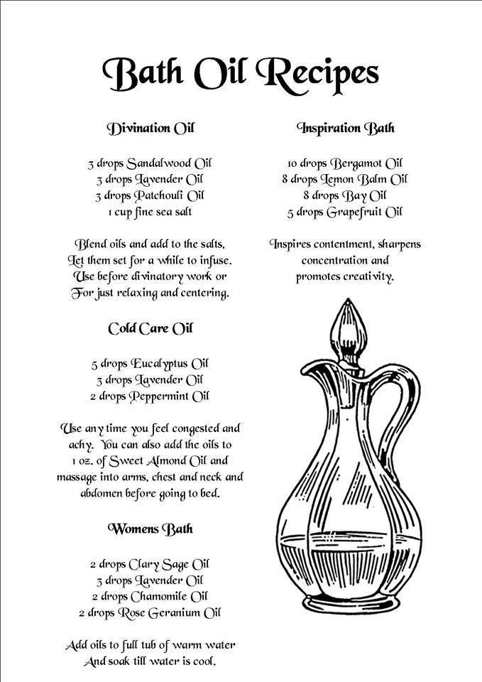 Young Living Essential Oils: `Natural Homemade Spa Recipes Bath Oil Recipes