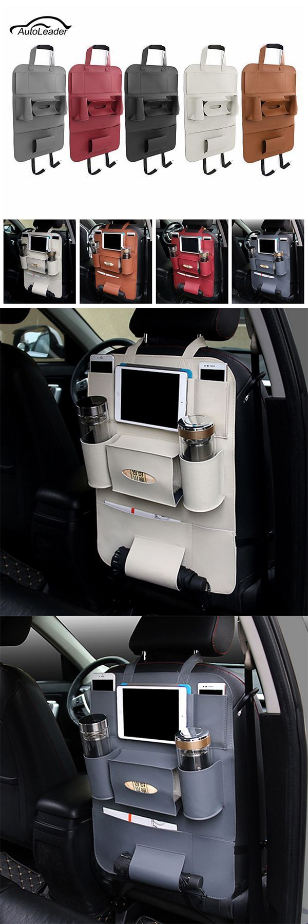 DIY Life Hacks & Crafts : US$14.61 Multifunctional Pocket Car Backseat Phone Hol...