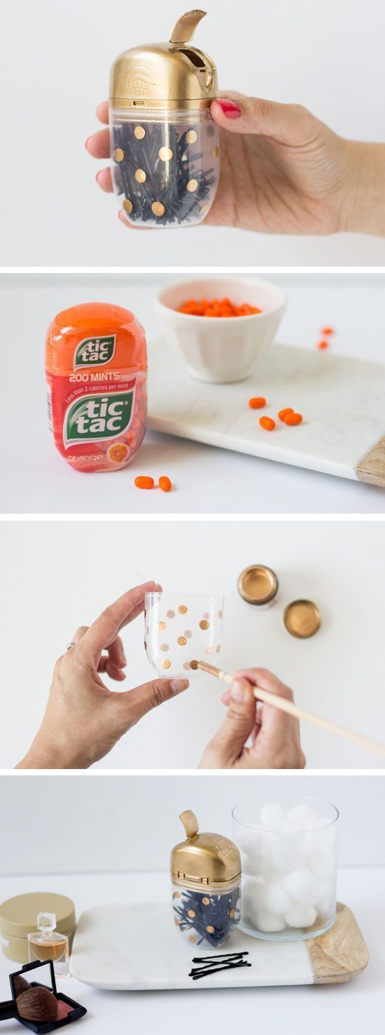 DIY Tic Tac Bobby Pin Case | 23 Life Hacks Every Girl Should Know | Easy Organiz...