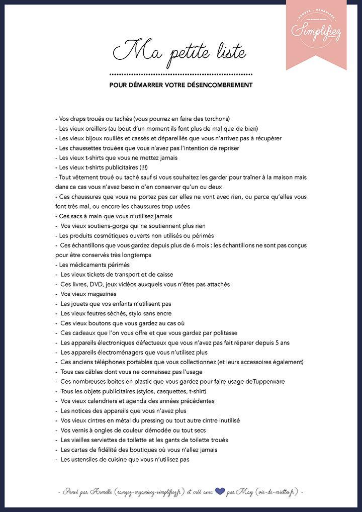 Ma petite liste de rangement imaginée par Armelle et créée par May (vie-de-mi...