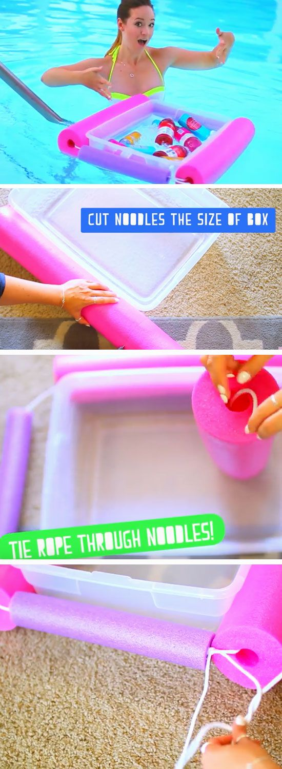 Make a Floatie Ice Chest | 22 DIY Summer Life Hacks for Teens that everyone need...