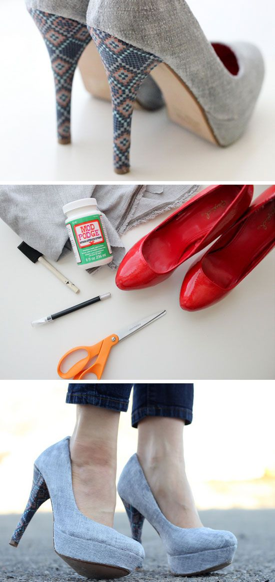 Revamp Your Old High Heels With Fabric | 18 Life Hacks Every Girl Should Know | ...