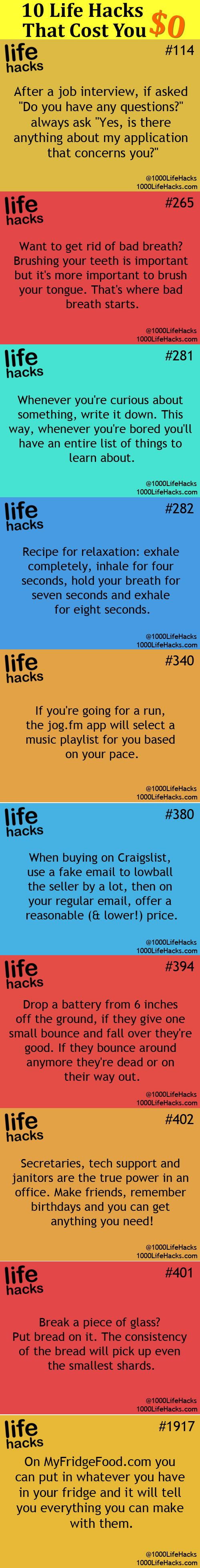 Those 10 selected life hacks include some clever tips to solve bothersome daily ...