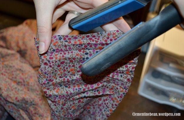 Utilisez votre fer à lisser pour repasser les ourlets.   23 astuces qui vont si...