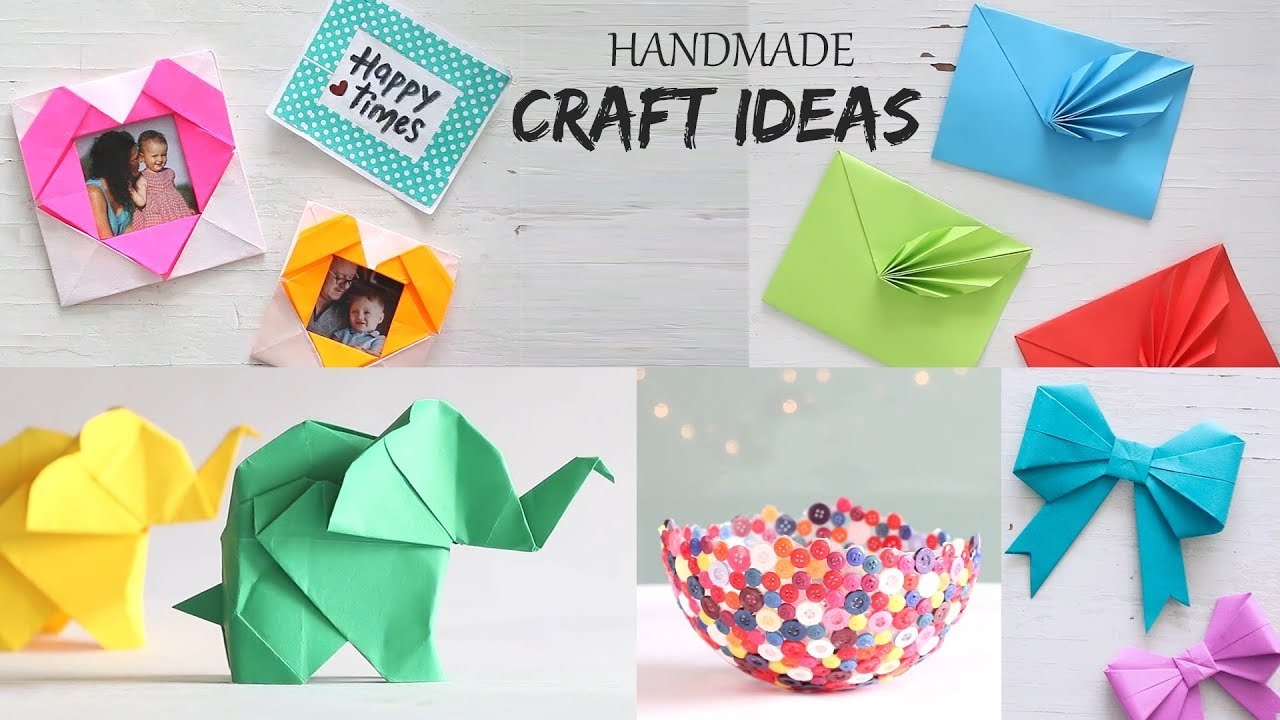 Diy Projects Video 5 Easy Handmade Craft Ideas Handcraft Diy