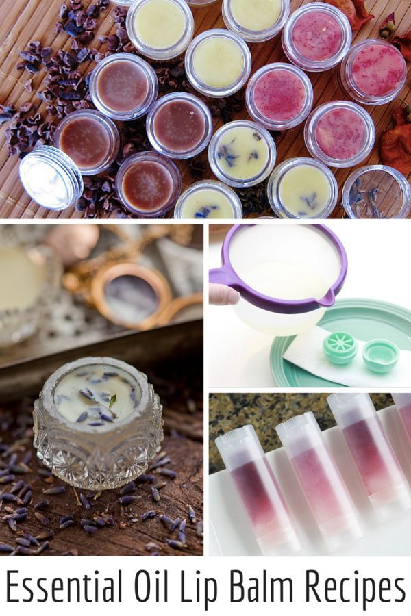 A luscious collection of Natural DIY Essential Oil Lip Balm Recipes, ideal for t...