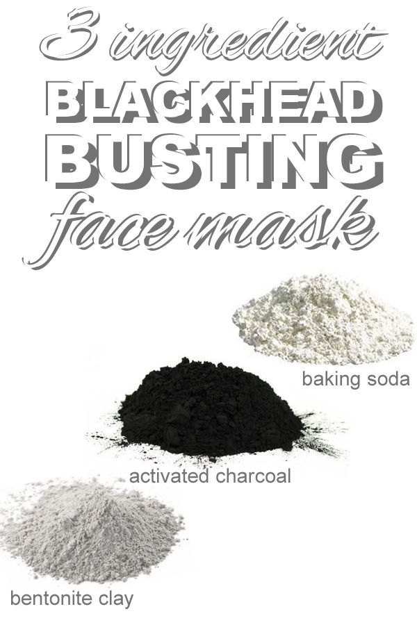 An easy three ingredient blackhead busting face mask that you can make with pant...