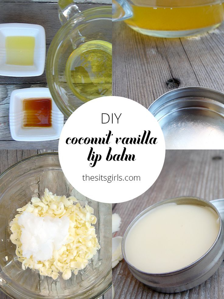 DIY coconut vanilla lip balm is easy to make and all natural. With this recipe, ...