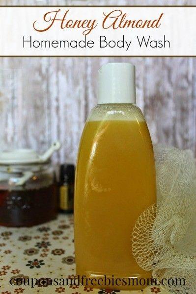 Homemade Honey Almond Body Wash