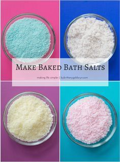 Learn how to bake your homemade bath salts to ensure they stay fluffy and fresh,...