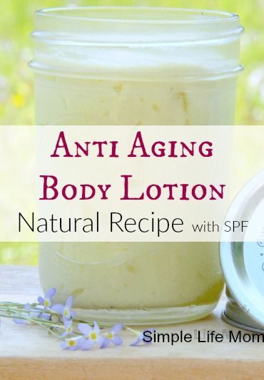 Natural anti aging body lotion recipe with shea butter, argan, apricot kernel oi...