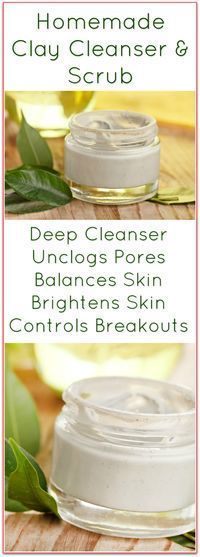 This Homemade Clay Facial Cleanser Recipe is a face scrub and cleanser all in on...