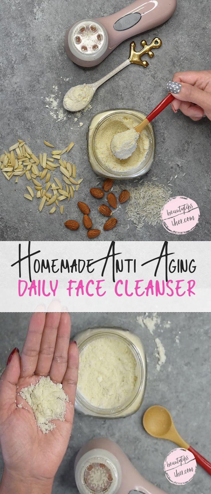 This homemade face cleanser not only moisturizes the skin, it also exfoliates it...