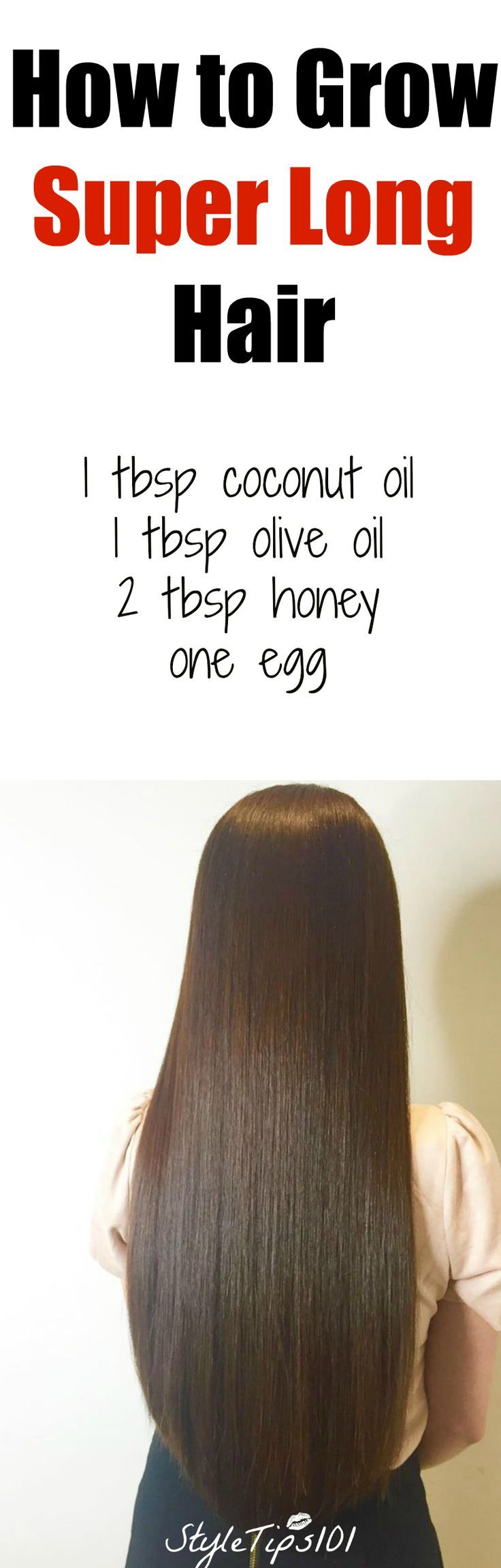 How to Grow Super Long Hair You'll Need: 1 tbsp coconut oil 1 tbsp olive oil 2...