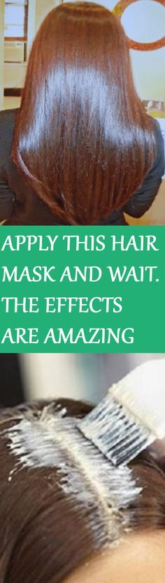 APPLY THIS HAIR MASK AND WAIT FOR FIFTEEN MINUTES- THE EFFECTS WILL LEAVE YOU BR...