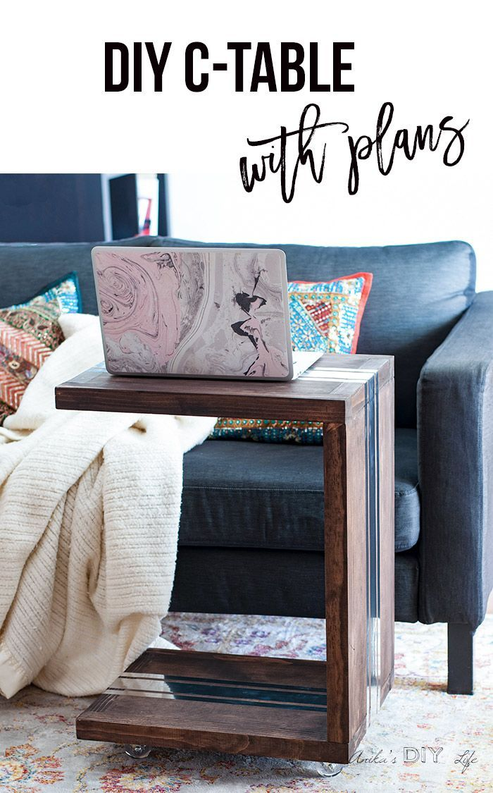 How to build a C-table. Full step by step details and plans for a DIY wood C-tab...