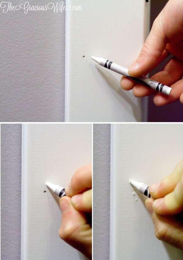 Comblez un trou de clou avec une craie grasse. 11 Réparations pour la maison à...