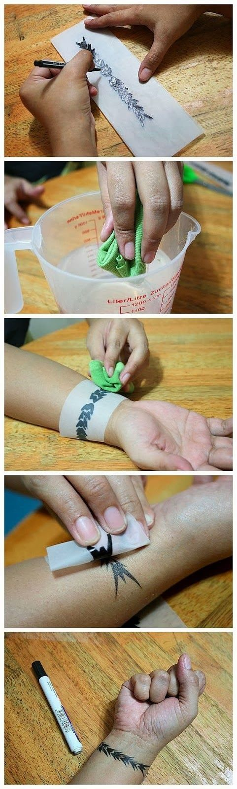 How to Create Your Own Temporary Tattoo. I wonder if this actually works or is a...