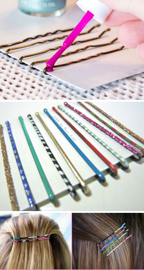 Paint Your Bobby Pins | 23 Life Hacks Every Girl Should Know | Easy Organization...