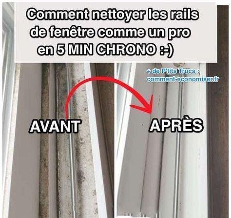 Rien de plus pénible que de nettoyer les rails de fenêtre. Heureusement, il ex...