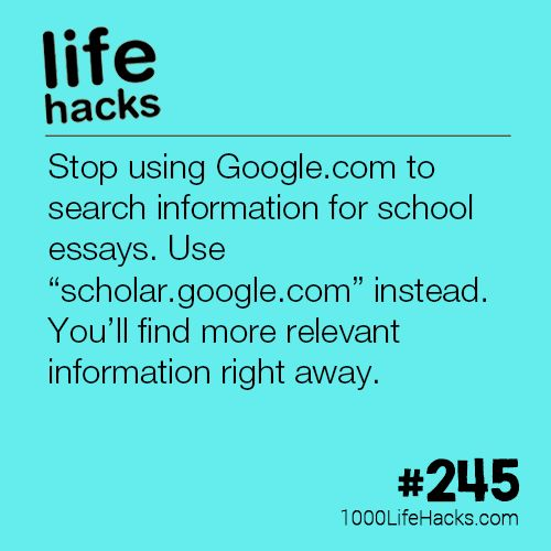 The post #245 – Stop Using Google.com To Search For School Essays appeared fir...