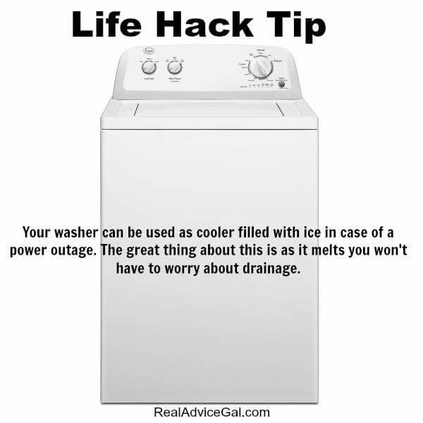 Use washer as a cooler during a power outage! | Posted By: SurvivalofthePrep...