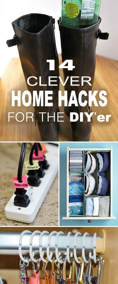 14 Clever Home Hacks for the DIY'er! • Tips, ideas and tutorials for some gr...