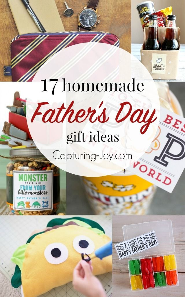 17 Homemade Father's Day Gifts for the man in your life! I love giving more ...