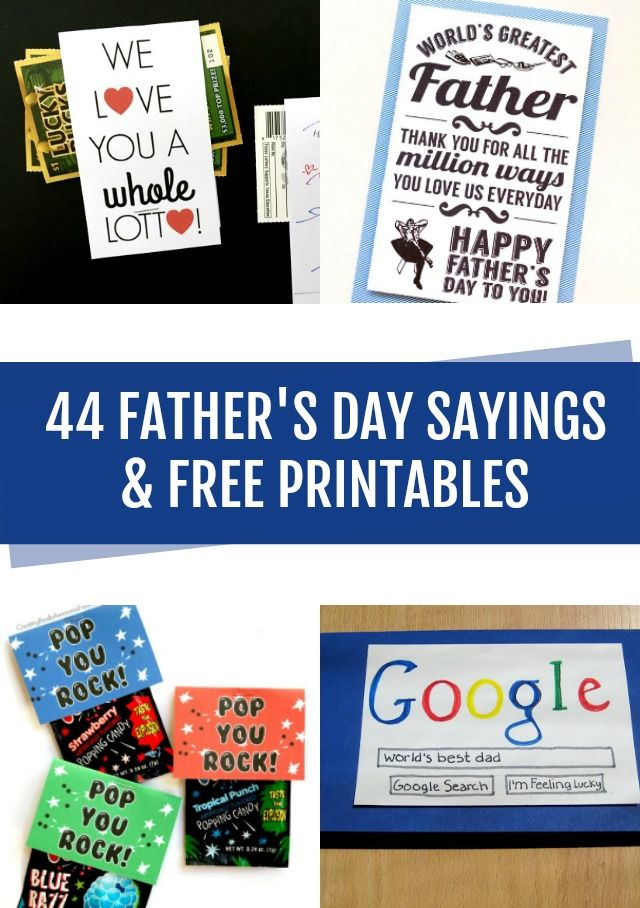 photograph about Lucky to Have a Dad Like You Printable named Do it yourself Crafts : 44 Fathers Working day Sayings and absolutely free printables