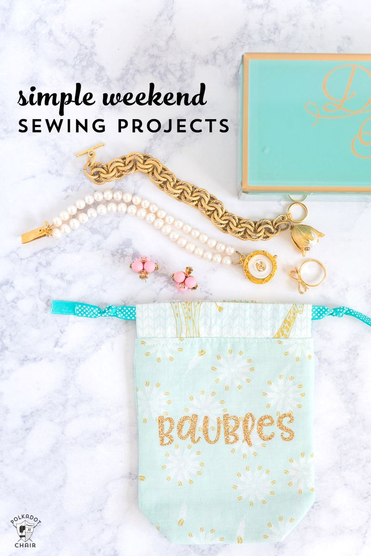 DIY Crafts : 5 Simple Weekend Sewing Projects - DIYall.net | Home of ...