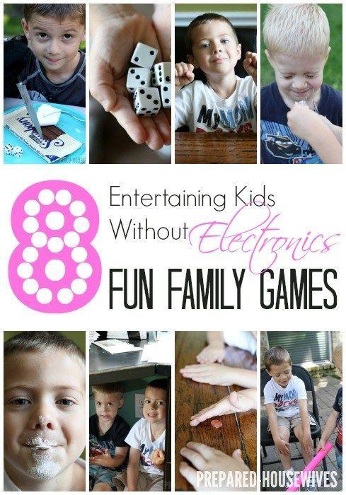 8 WAYS OF ENTERTAINING KIDS WITHOUT ELECTRONICS ~ FAMILY FUN GAMES #familyfun #g...