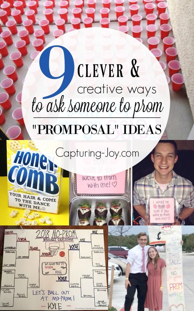 9 Clever ways to ask someone to prom - Promposal Ideas. #prom2018 #promideas #pr...