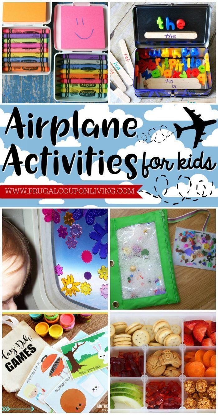 Airplane activities for kids on Frugal Coupon Living. What to do on a plane with...