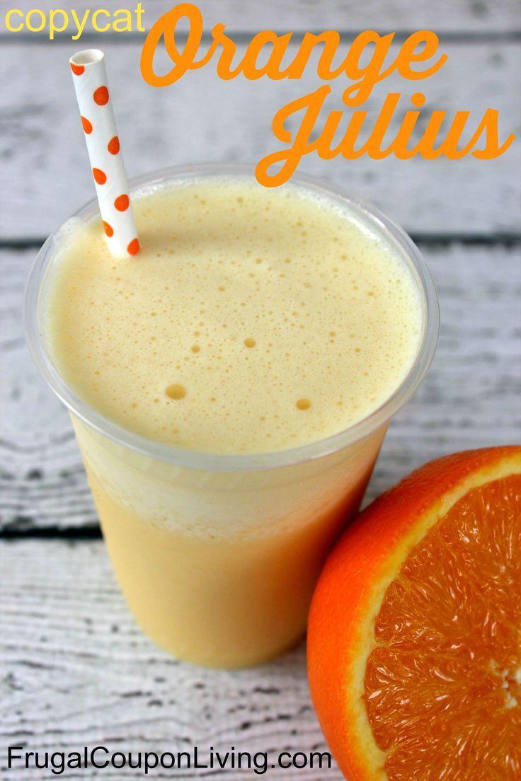 Copycat Dairy Queen Orange Julius Recipe - mimic your favorite drink at home, gr...