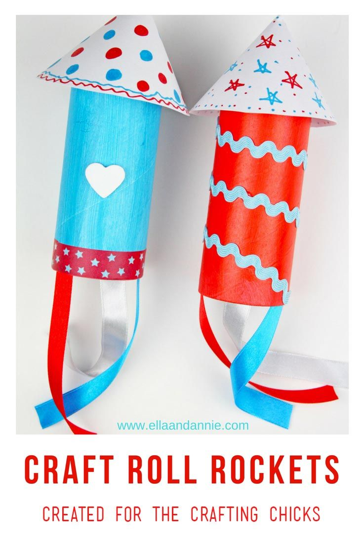 Diy Crafts Craft Roll Rockets Craft For Memorial Day Celebrate