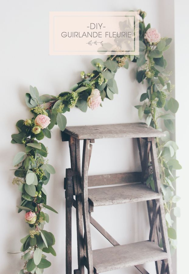 DIY | A Gorgeous Floral Garland - a beautiful project for a special occasion for...