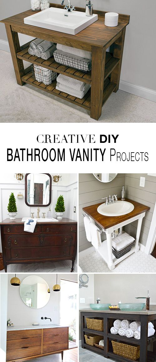 DIY Bathroom Vanity Projects • Learn how to save money and build a bathroom va...