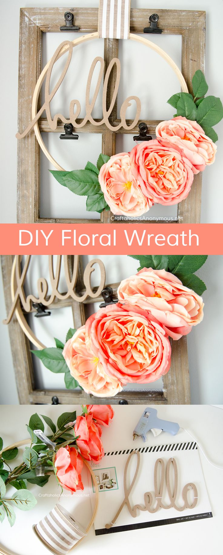 Another design idea with flowers. We love the floral tutorial, its simple and gi...