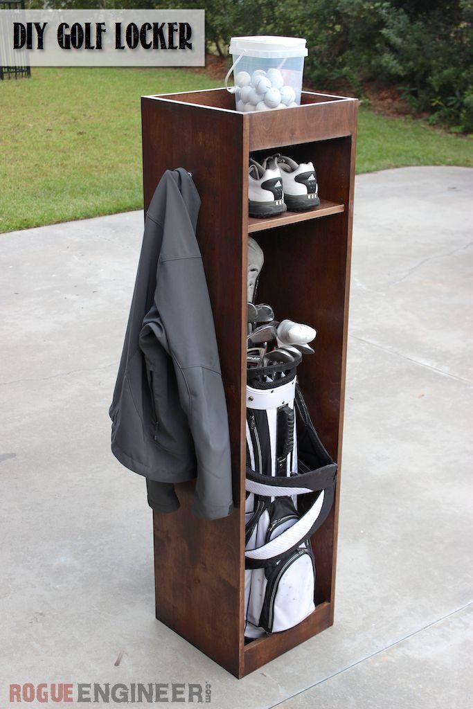 DIY Golf Locker from a single sheet of plywood   Free Plans