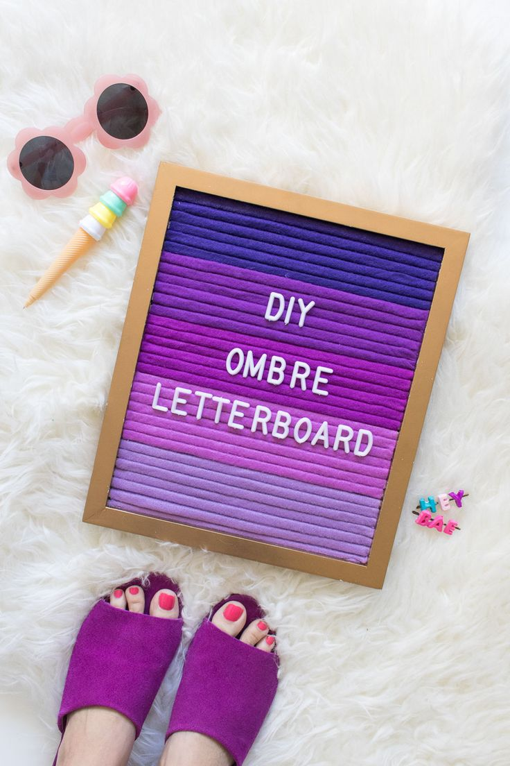 DIY Ombre Letterboard