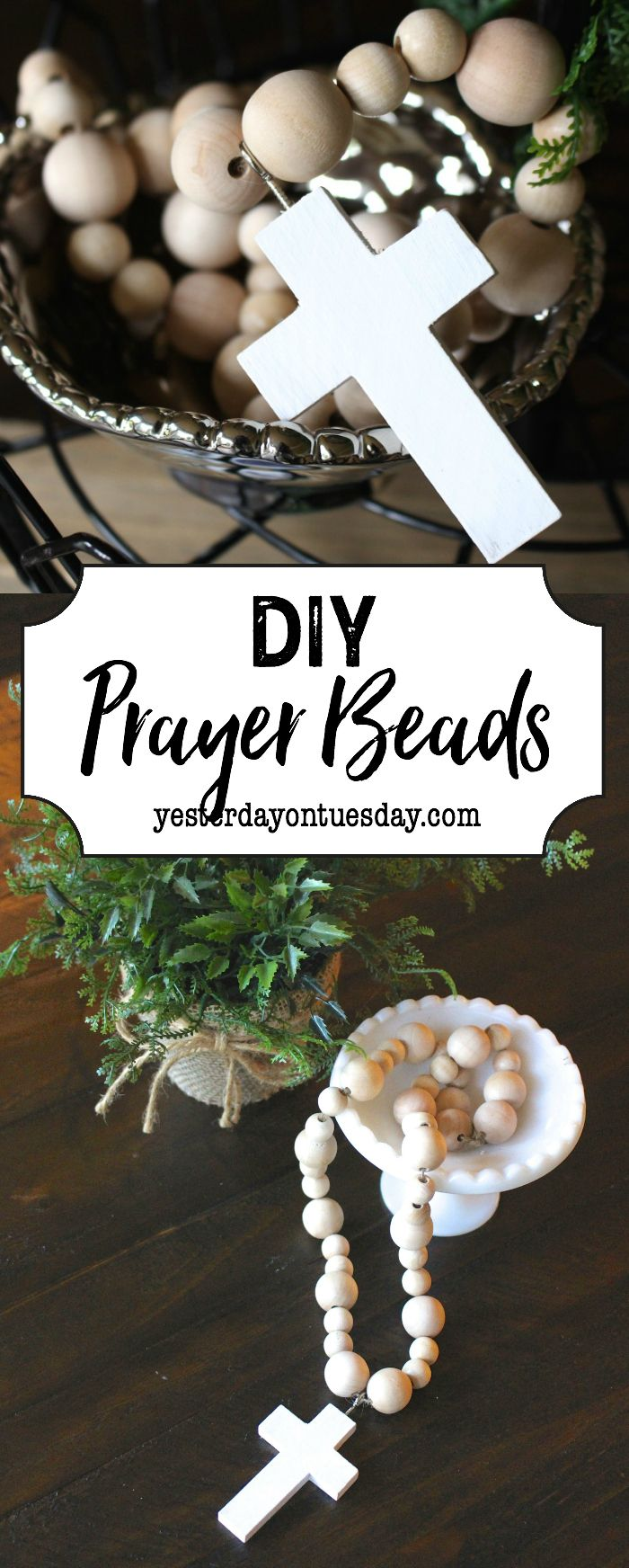 DIY Prayer Beads: How to make your own modern farmhouse style prayer beads. An e...