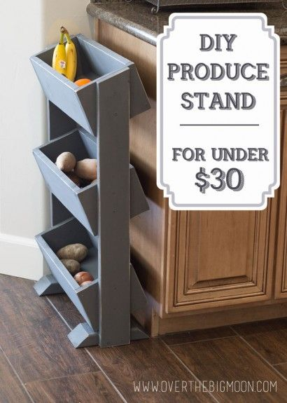 DIY Produce Stand for UNDER $30 -- this is the perfect DIY for anybody! Full ste...