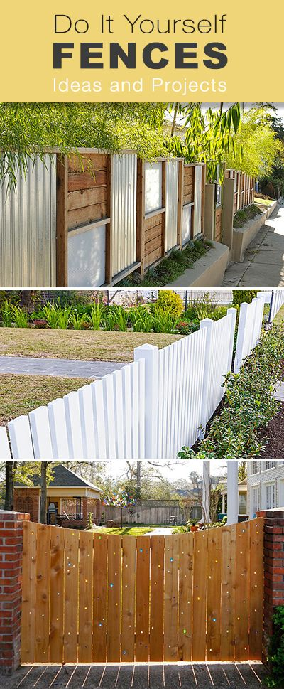 Diy Crafts Do It Yourself Fences Lots Of Different Style Diy