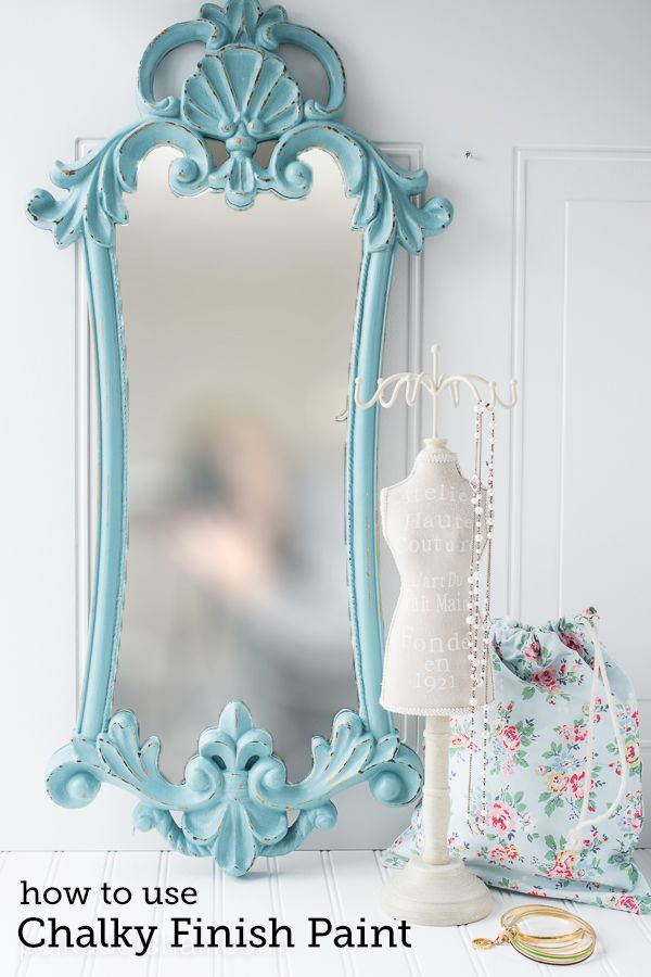 Diy Crafts Easy Mirror Refinish Using Chalky Finish Paint On